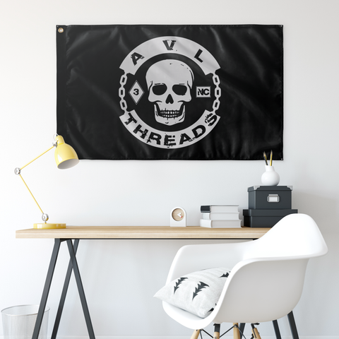 AVL Threads Skull Flag 5x3