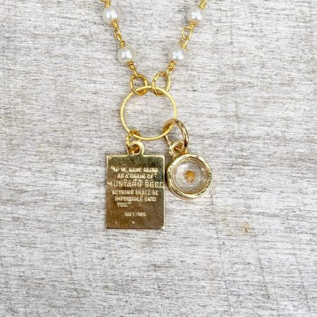 Mustard seed necklace with bethlehem olive wood and matthew 1720 mustard seed necklace with bethlehem olive wood and matthew 1720 aloadofball Image collections