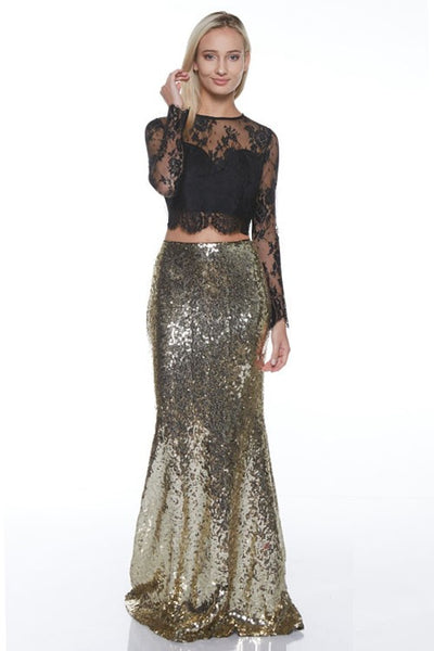 Noelle Sequin Maxi Skirt (three colours)