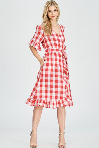 Annie Gingham Dress