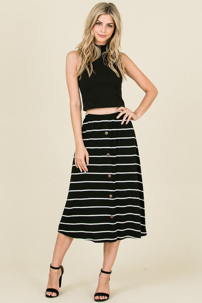 Roxanne Striped Midi Skirt