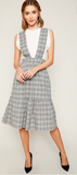 Nancy Plaid Overall Dress