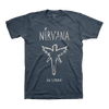 In Utero Brush Tee (Heather Navy) - Nirvana