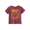Smiley Toddler Tee - Burgandy