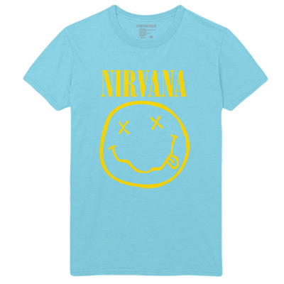 Come As You Are Smiley Tee - Blue - Nirvana