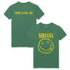 Come As You Are Smiley Tee - Green - Nirvana