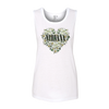 Women's Floral Heart Tank - Nirvana