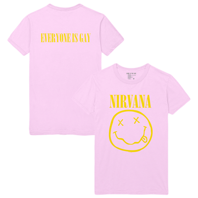 Everyone Is Gay Smiley Tee - Pink - Nirvana