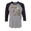 Incesticide 3/4 Sleeve (Graphite Heather/Black) - Nirvana