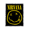 Smiley Woven Blanket - Nirvana