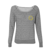 Smiley Off The Shoulder Sweater (Heather Grey) - Nirvana