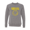 Smiley Tri-Blend Crewneck Sweater - Nirvana