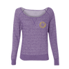 Smiley Off The Shoulder Sweater (Purple) - Nirvana
