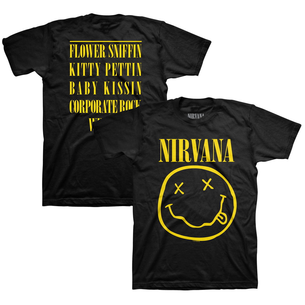 12d5e6194af6 Nirvana - Smiley Tee - Nirvana Official Store