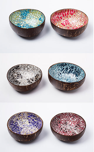 Dark Blue Coconut Eggshell Bowl