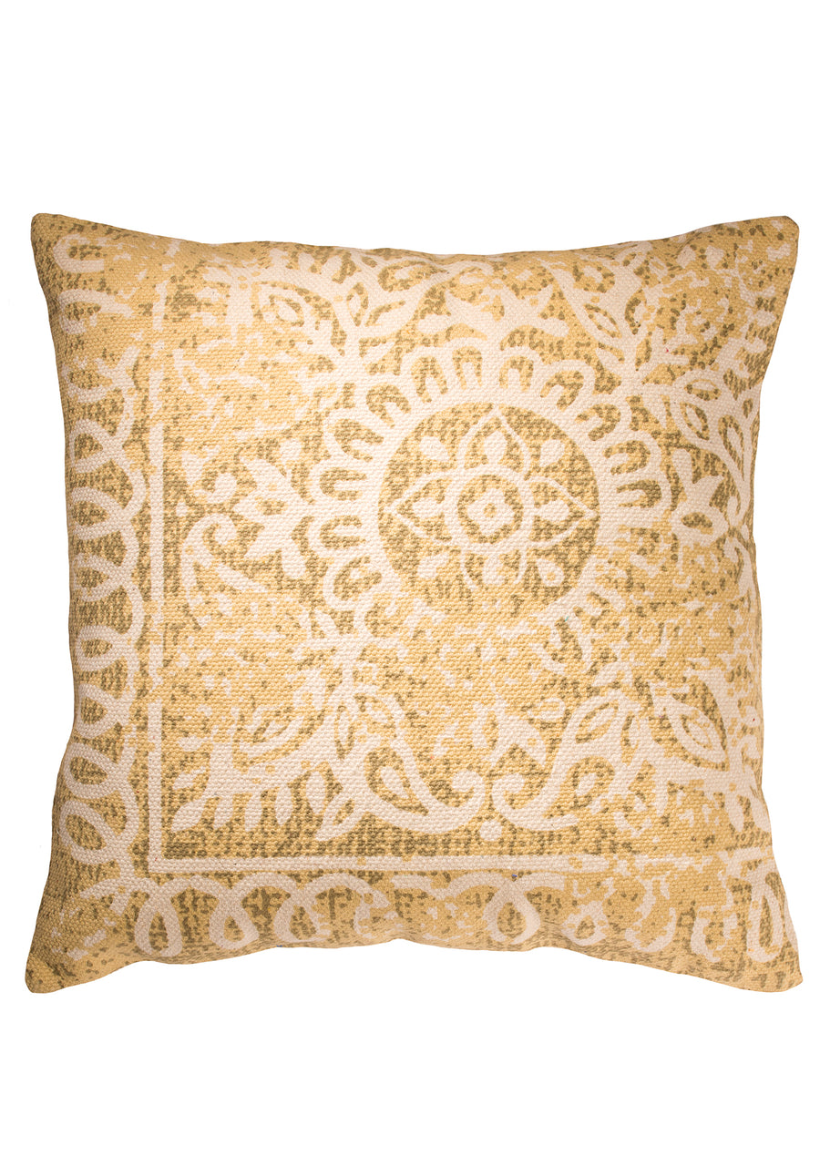 handprinted bohemian cushion uk