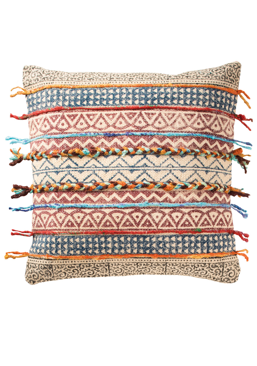 Threaded Tribal Cushion