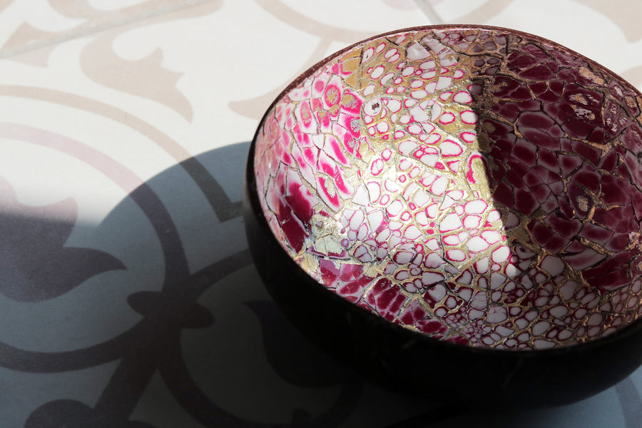 Pink Coconut Eggshell Bowl