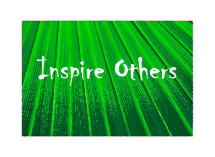 inspire others fresh green
