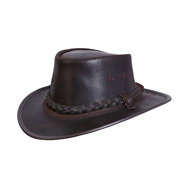 Conner Hats Aussie Hats Brown / Small BC Hats Bac Pac Traveller Oily Australian Leather Hat