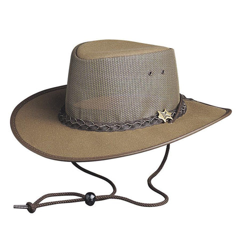 Conner Hats Canvas Aussie Hat with Mesh Crown /& Chin Cord T1008
