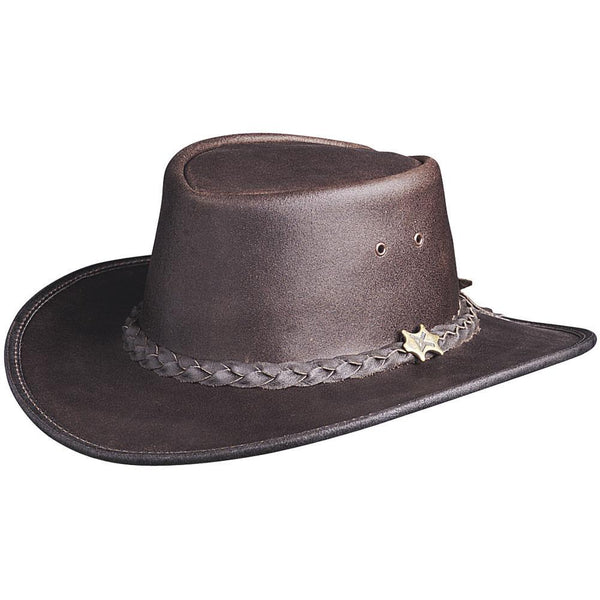 Conner Hats Aussie Hats Brown / Small BC Hats 'Hat n the Pouch' Oily Australian Leather Hat
