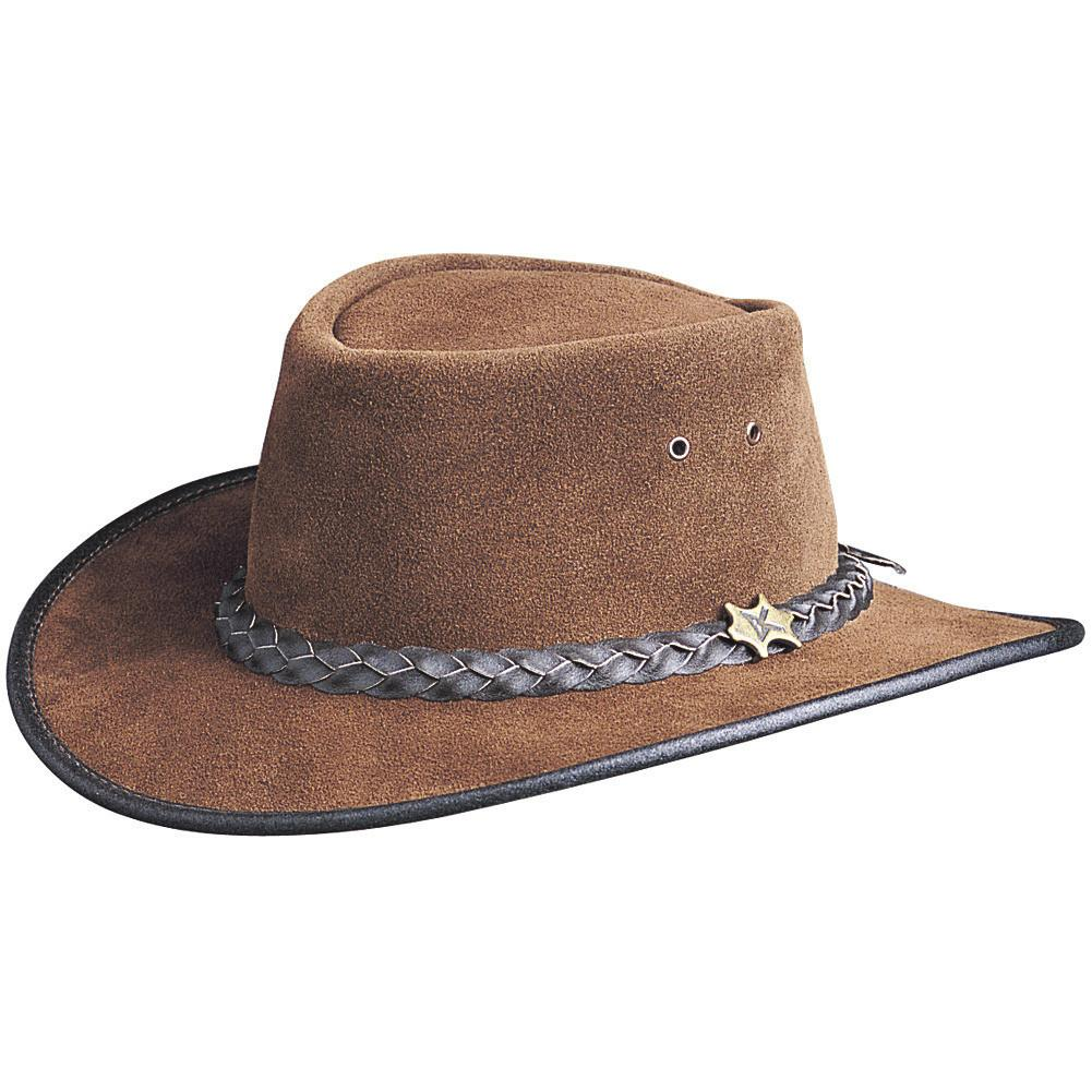 Conner Hats Aussie Hats Chocolate / Small BC Hats Hat n the Pouch Suede Australian Leather Hat