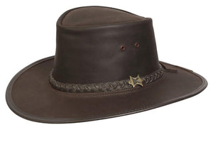 Conner Hats Aussie Hats Brown / Small BC Hats Stockman Oily Australian Leather Hat