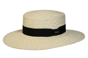 Conner Hats Boating Hats Black / One Size Magnolia Straw Boater Hat