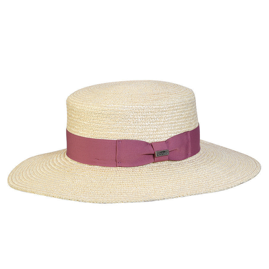 Conner Hats Boating Hats Rose / One Size Magnolia Straw Boater Hat