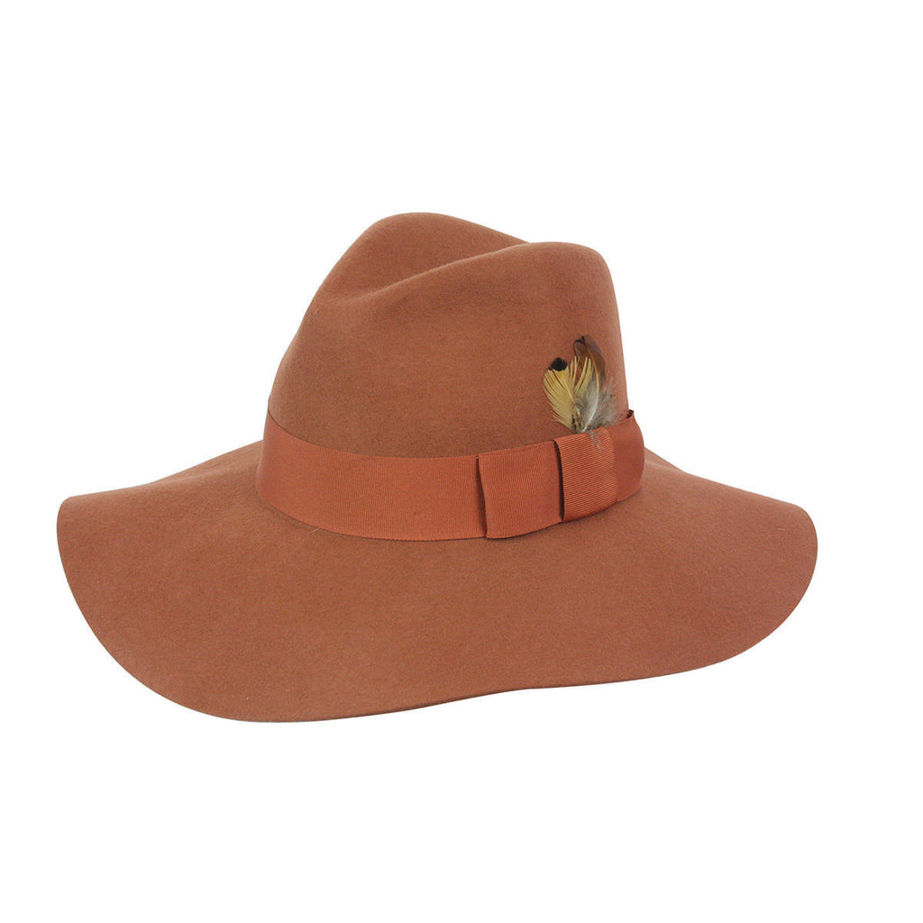 Conner Hats Boho Hats Rust / One Size Allison Floppy Wool Hat
