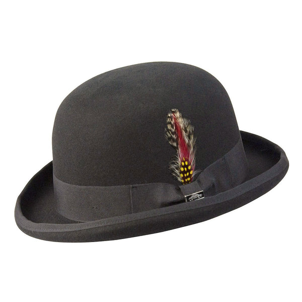 Conner Hats Bowler/Derby Hats Black / Small Humphrey Wool Bowler Hat
