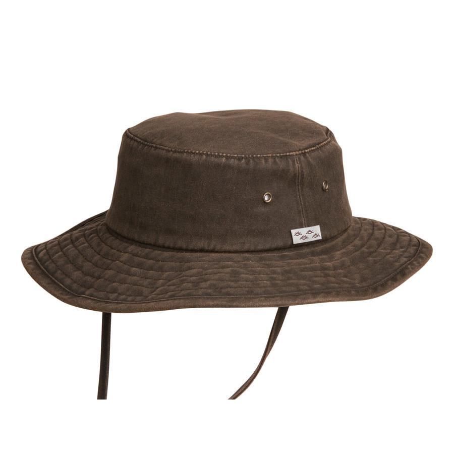 Conner Hats Bucket Hats Brown / Small Dusty Road Aussie Waterproof Cotton Hat
