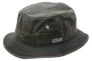 Conner Hats Bucket Hats Brown / Small Weathered Cotton Bucket Hat