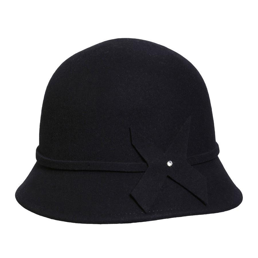 Conner Hats Cloche Hats Black / One Size Piper Cloche Hat