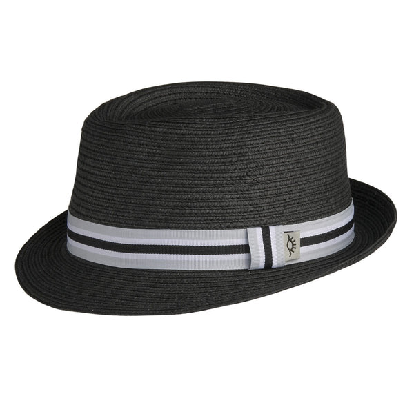 Conner Hats Fedoras Black / Small/Medium 5th Avenue Straw Pork Pie Fedora
