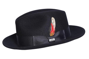 Conner Hats Fedoras Black / Small Bad Hombre Wool Fedora