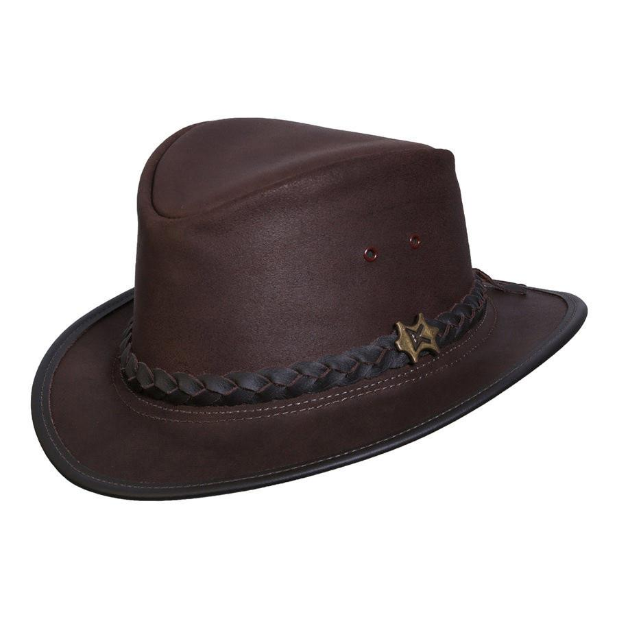 Conner Hats Fedoras Brown / Small BC Hats Streetwise Leather Fedora