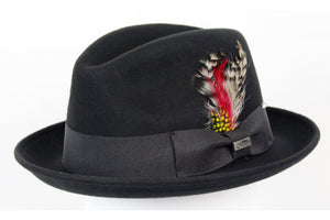 Conner Hats Fedoras Black / Small Detroit Wool Fedora