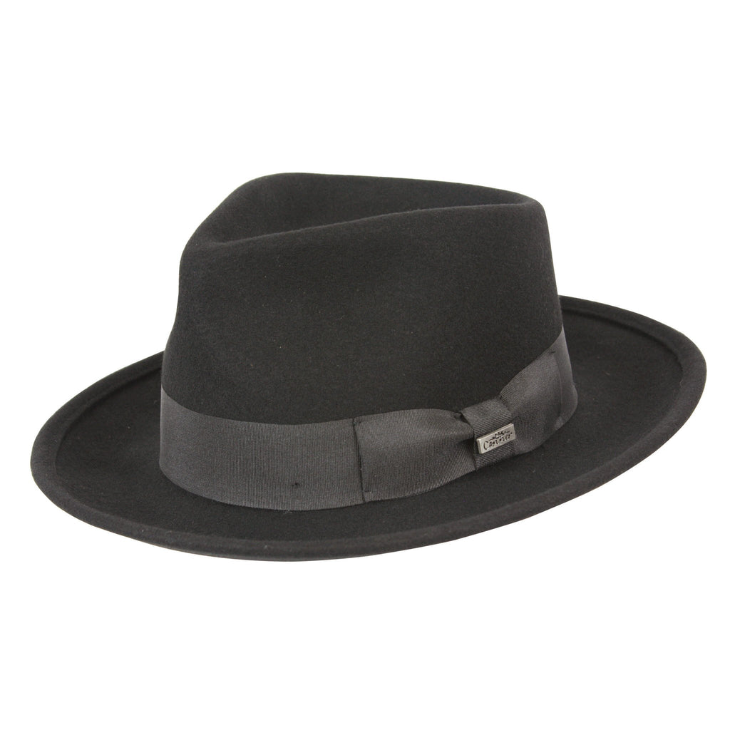 Conner Hats Fedoras Black / Small Leroy Wool Crushable Fedora