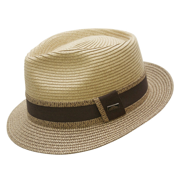 Conner Hats Fedoras Tan / Small Madeira Beach Straw Fedora