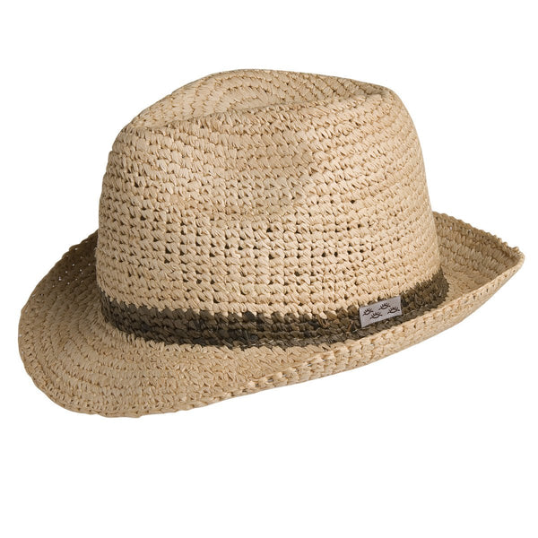 Conner Hats Fedoras Natural / Small/Medium Madison Raffia Straw Beach Fedora