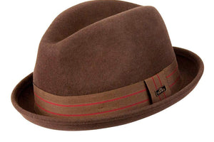 Conner Hats Fedoras Brown / Small Merlo Kicker Wool Fedora