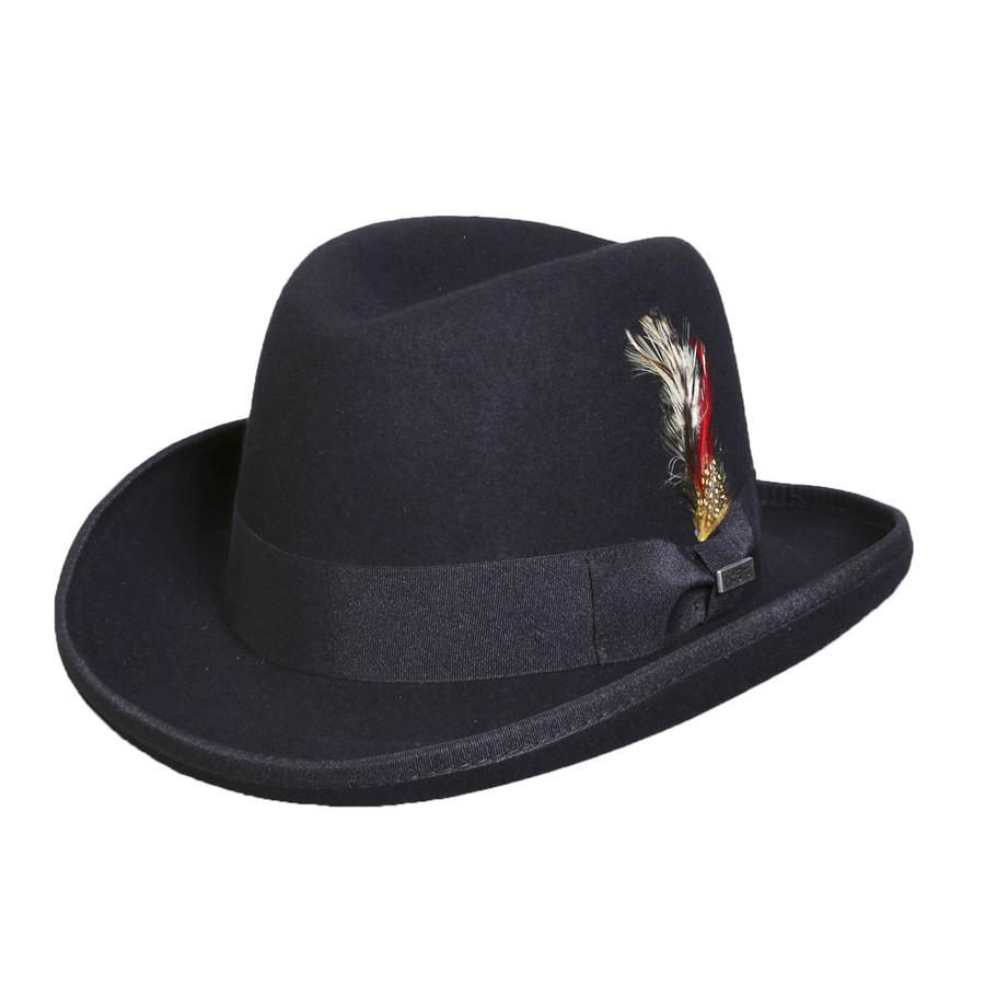 Conner Hats Fedoras Black / Small Mr. Homburg Australian Wool Hat