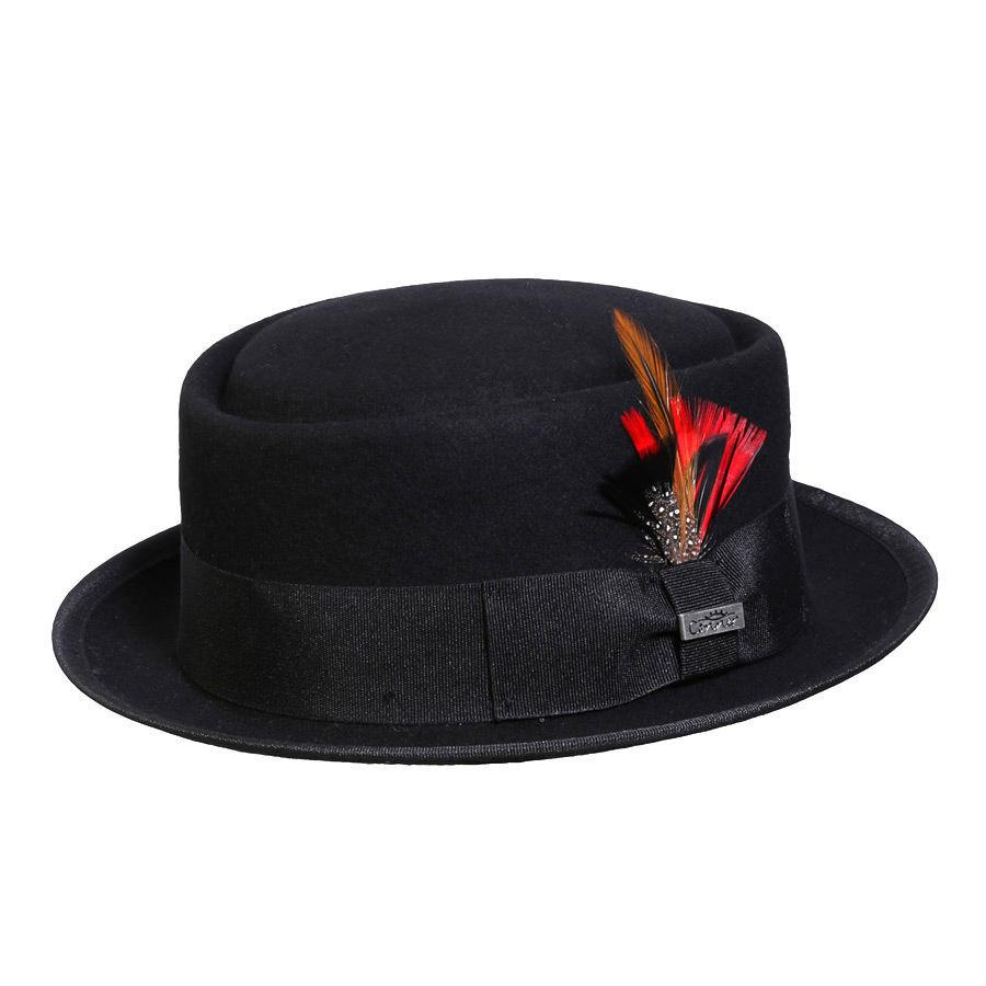Conner Hats Fedoras Black / Small Mumford Pork Pie Wool Fedora