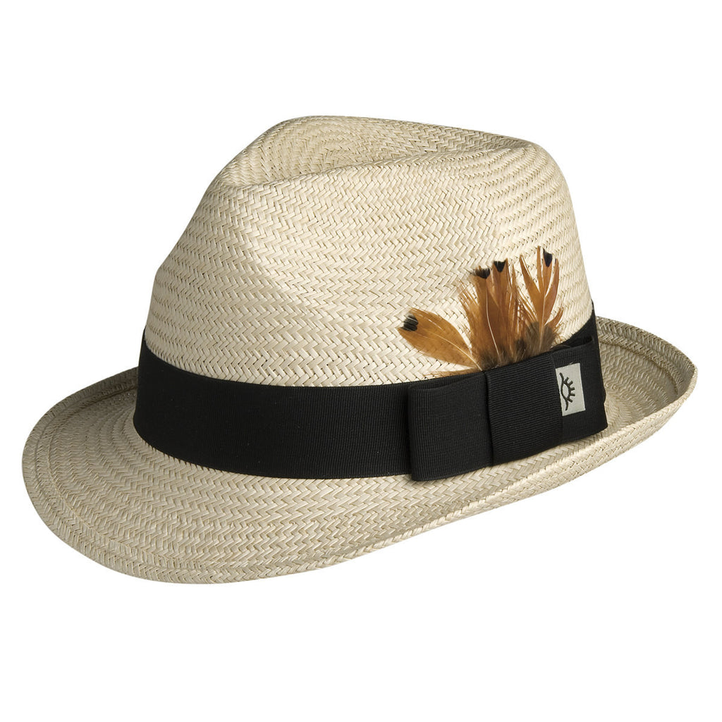Conner Hats Fedoras Natural / Small/Medium Panama Palm Straw Fedora