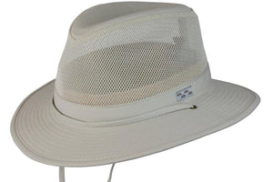 Conner Hats Fedoras Oatmeal / Small Pueblo Mens Fedora Mesh Cotton Outdoor Hat