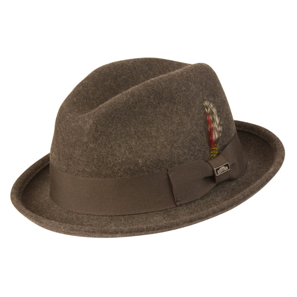 Conner Hats Fedoras Brown Mix / Small Soho Crushable Wool Fedora