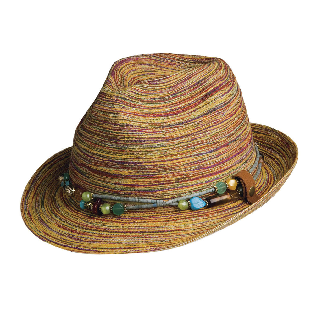 Conner Hats Fedoras Multi / One Size Spain Fedora With Removable Necklace