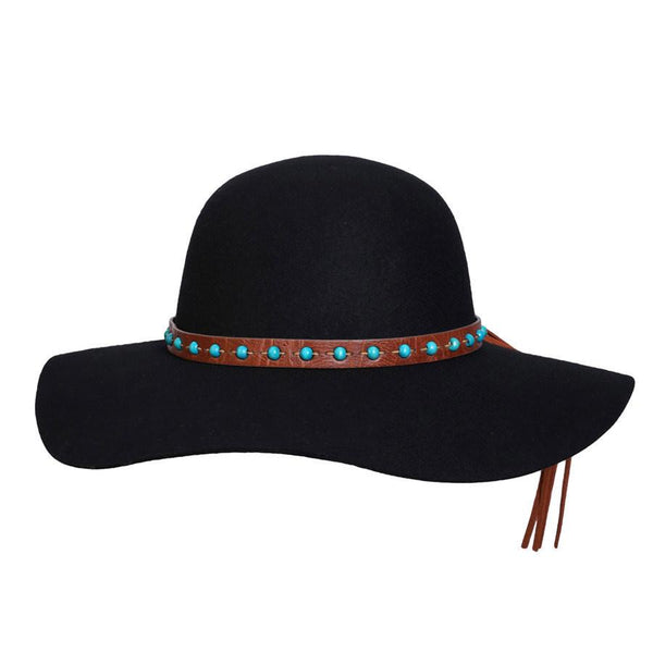 Conner Hats Floppy Hats Black 1970 Australian Wool Floppy Hat